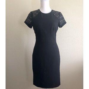 Calvin Klein Black Embellished Sheath Dress
